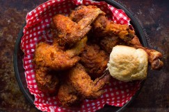 Crispy, Juicy Tennessee Fried Chicken and Biscuits