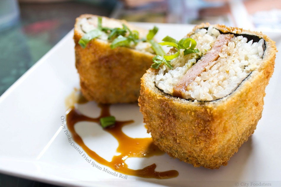 Crispy Panko Coated Fried Spam Musubi Roll