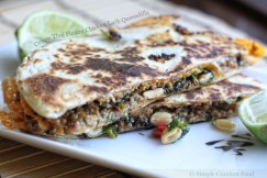 Crispy Thai Fusion Chicken Larb Quesadilla