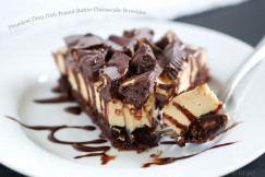 Decadent Deep Dish Peanut Butter Cheesecake Brownies