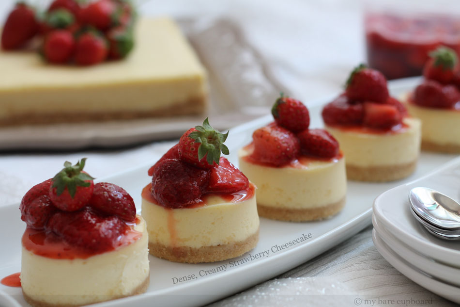 Dense, Creamy Strawberry Cheesecake