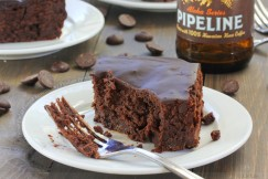 Dense Fudgy Glazed Brownies with Pipeline Porter