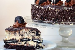 Dense Rich Hot Fudge Oreo Cheesecake