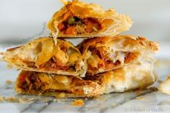 Flaky Spicy Turkey Curry Puffs