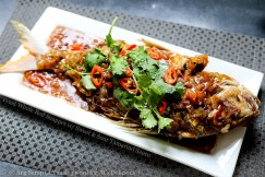 Fried Whole Red Snapper with Sweet and Sour Tamarind Sauce