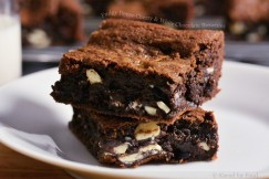 Fudgy Dense Cherry and White Chocolate Brownies