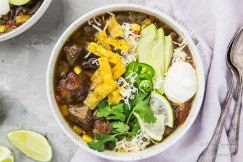 Fully Loaded Short Rib Fajita Soup