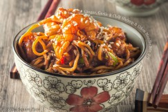 Ginger, Garlic and Chili Shrimp and Udon Noodle Stir-Fry