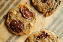 Gooey Chocolate Toffee Cookies with Sea Salt
