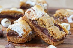 Gooey Milk Chocolate and Marshmallow Stuffed in Soft, Buttery Graham Cracker Crumble