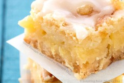Gooey Pineapple Bars Drizzled with Pineapple Glaze