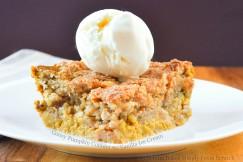 Gooey Pumpkin Cobbler with Vanilla Ice Cream