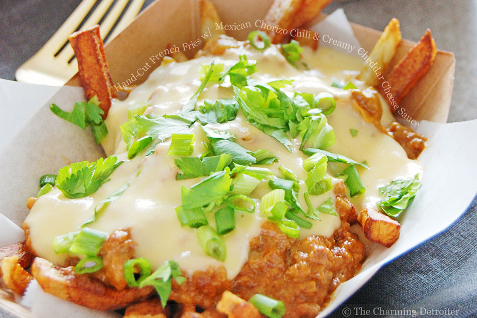 Hand-Cut French Fries with Mexican Chorizo Chili and Creamy Cheddar Cheese Sauce
