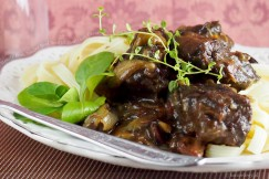 Hearty Fork-Tender Beef Bourguignon Over Pasta