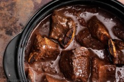 Hearty Fork-Tender Rib Tips Braised in a Rich Mocha Sauce