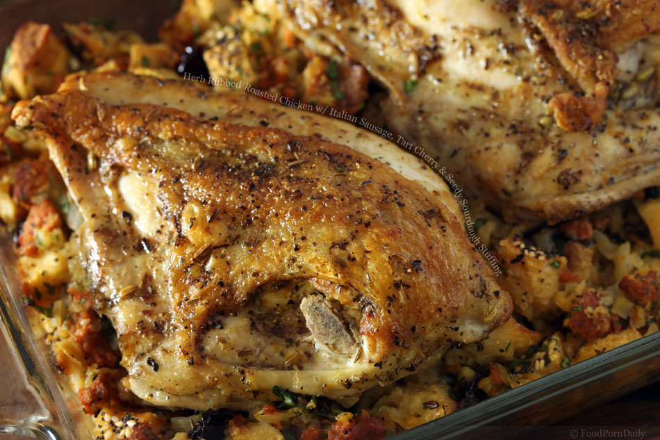 Chicken Sausage And Herb Stuffing Recipe — Dishmaps