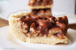 Honey Caramel Pecan and Walnut Bars with Olive Oil Vanilla Bean Shortbread