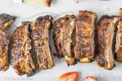Jalapeno and Roasted Strawberry BBQ Baby Back Ribs