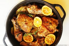 Juicy Crispy Lemon Roasted Chicken & Potatoes