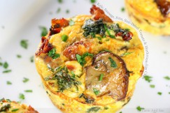 Kale, Sausage, Feta, Sun-Dried Tomato and Mushroom Egg Cups
