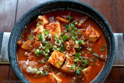 Kimchi Jjigae Soup – Braised Kimchi Soup with Pork Belly and Tofu