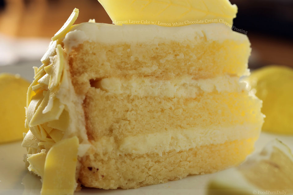 Lemon Birthday Cake Cream Cheese Frosting Image Inspiration of