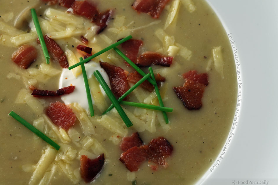 ... bacon potato soup with cheddar and chives potato chive cheddar soup