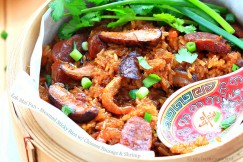 Loh Mai Fan – Steamed Sticky Rice with Chinese Sausage and Shrimp