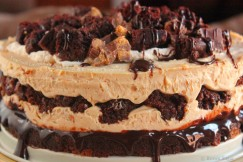 Luscious Layered Peanut Butter and Brownie Cheesecake