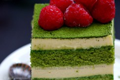Luscious Matcha Green Tea Tiramisu with Raspberries