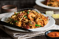 Malaysian Char Kway Teow – Smoky Stir-Fried Rice Noodles with Shrimp, Sausage and Chinese Chives