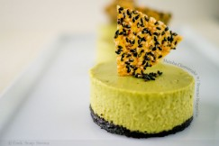 Matcha Cheesecake with Sesame Nougatine