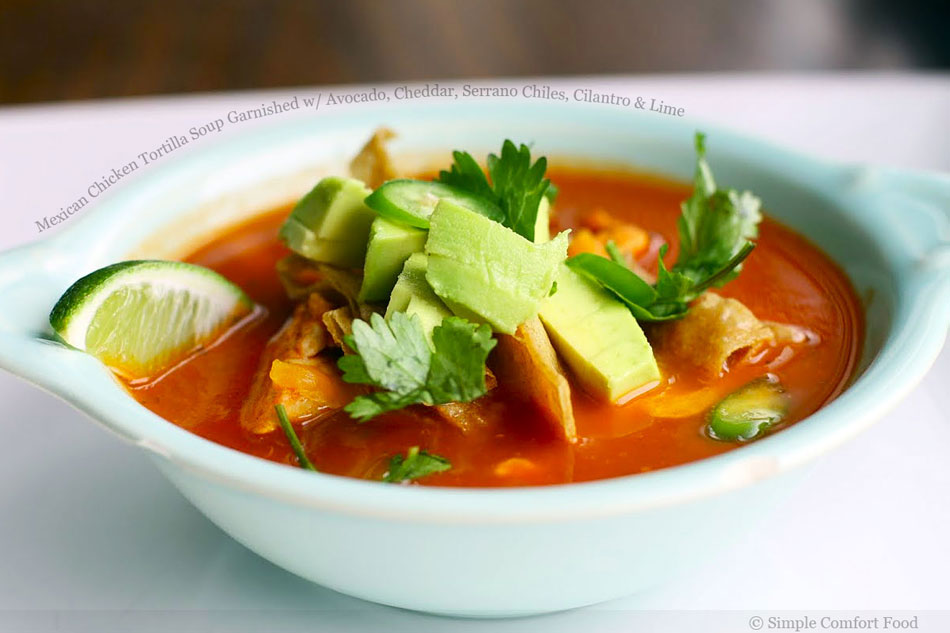 Mexican Food Chicken Avocado Soup