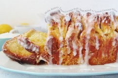 Moist, Buttery Lemon Coconut Pull-Apart Bread with Lemon Coconut Glaze