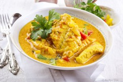 Moqueca Brazilian Fish Stew with Savory Coconut Broth