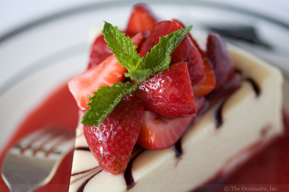 New York Style Cheesecake with Macerated Strawberries