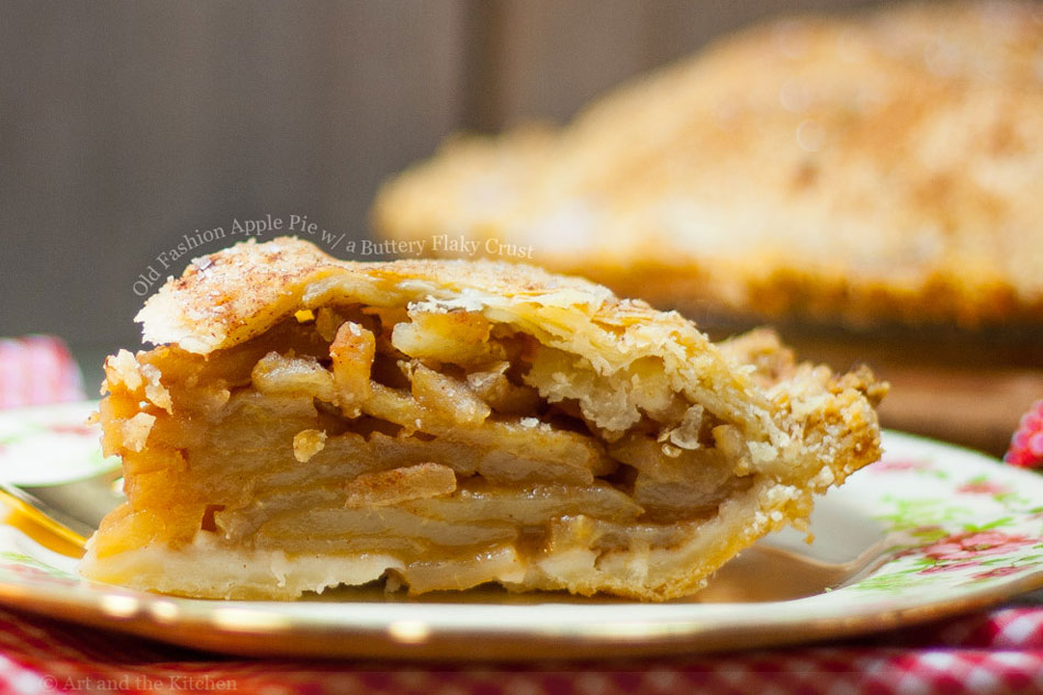 Old Fashion Apple Pie with a Buttery Flaky Crust