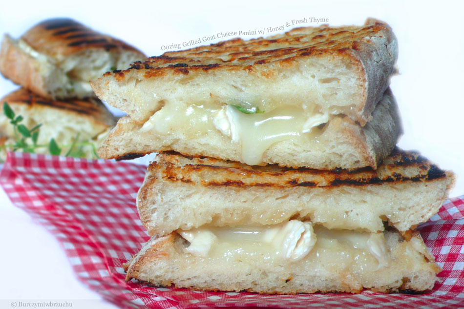 Oozing Grilled Goat Cheese Panini with Honey and Fresh Thyme ...