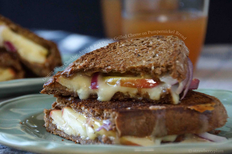 Oozing Sharp Cheddar, Apple and Red Onion Grilled Cheese ...