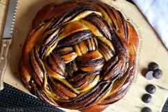 Orange Scented Challah Bread Swirled with Dark Chocolate