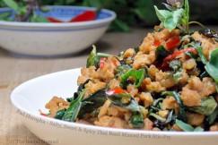 Pad Horopha – Salty, Sweet and Spicy Thai Basil Minced Pork Stir-Fry