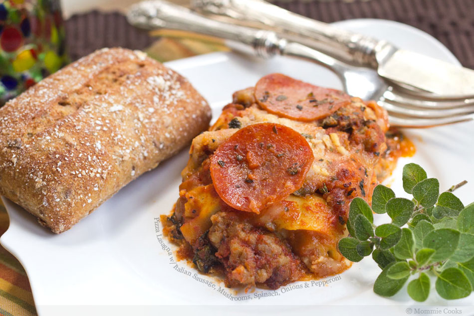 Italian Sausage And Spinach Lasagna Recipe — Dishmaps
