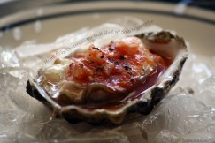 Plump Briny Oysters on the Half Shell with Sosu Mignonette