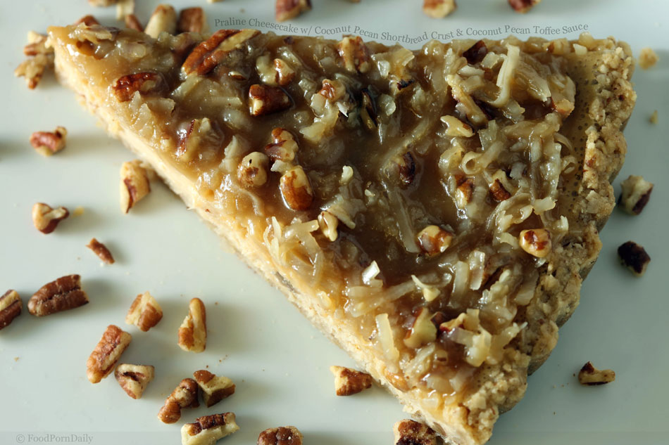 Praline Cheesecake with Coconut Pecan Shortbread Crust and Coconut ...