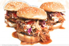 Pulled BBQ Chicken Sliders with Creamy Coleslaw and Tangy BBQ Sauce