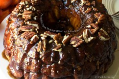 Pumpkin Spice Monkey Bread with Salted Caramel Glaze