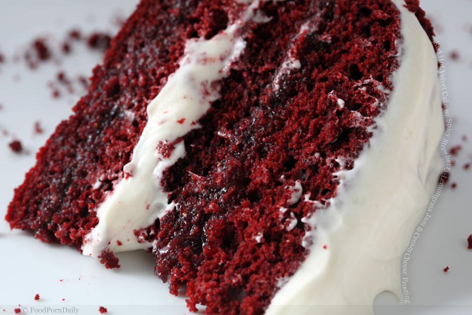 Red Hot Velvet Cake with Spicy Strawberry-Lemongrass Jam and Cream ...