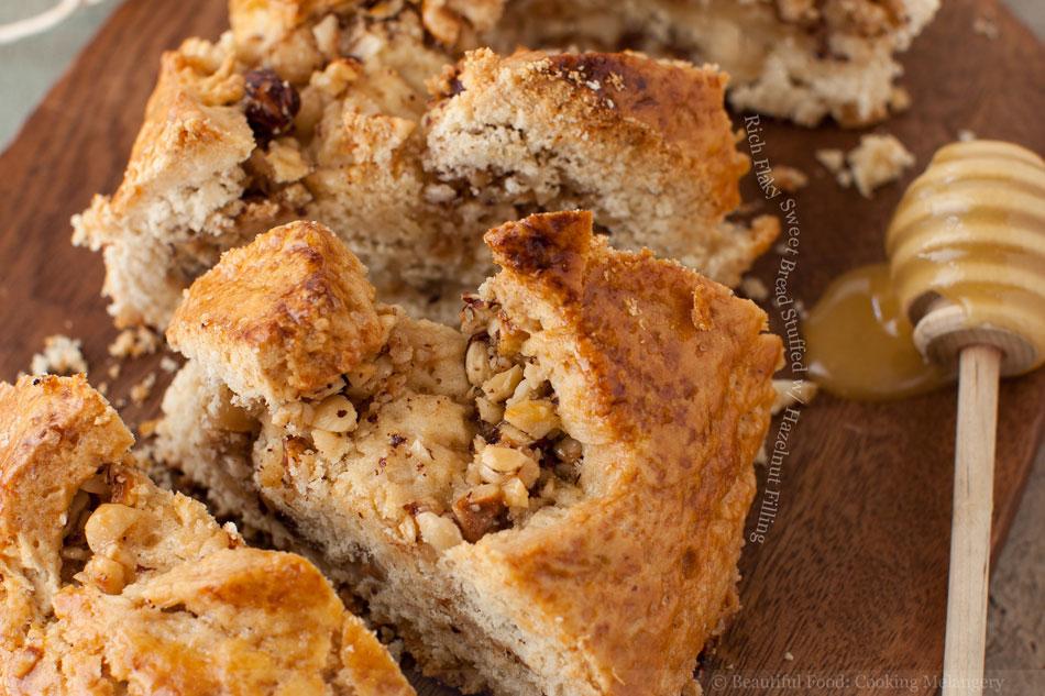 Rich Flaky Sweet Bread Stuffed with Hazelnut Filling