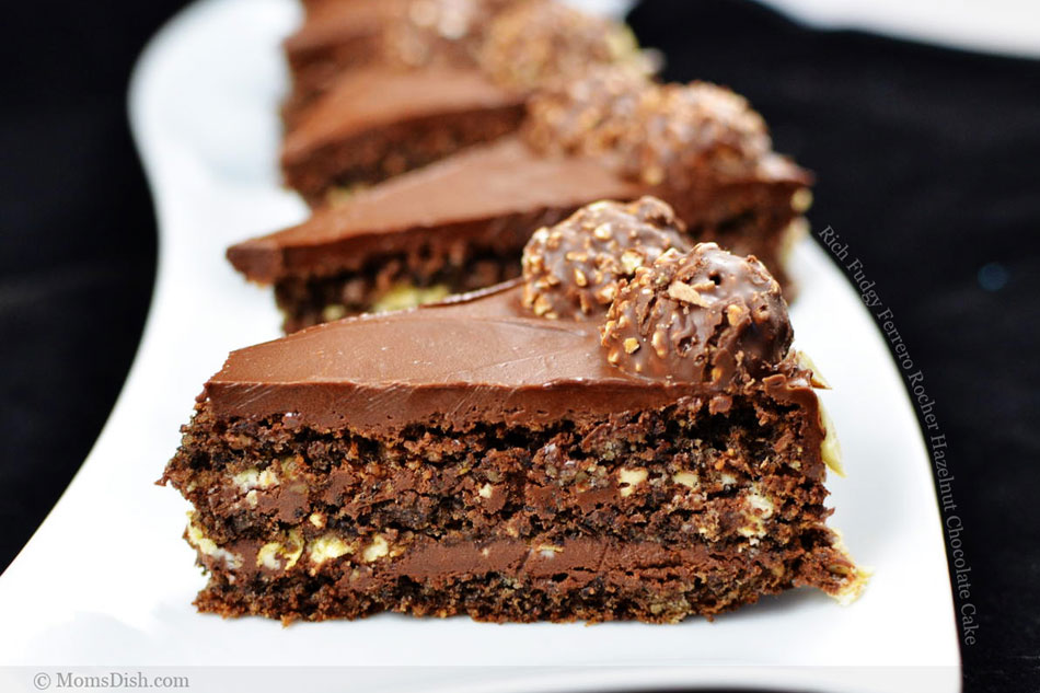 Rich Fudgy Ferrero Rocher Hazelnut Chocolate Cake « FoodPornDaily ...