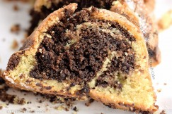 Rich Moist Vanilla and Chocolate Marble Bundt Cake
